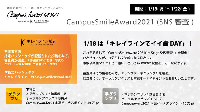 『CampusSmileAward2021』概要